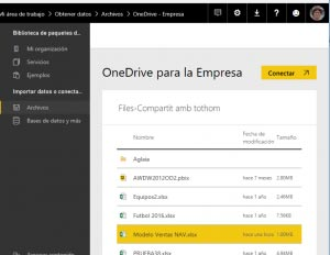 power bi one drive empresa