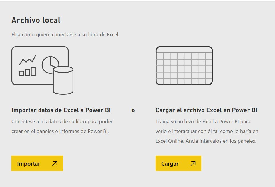 cargar un archivo local en power bi