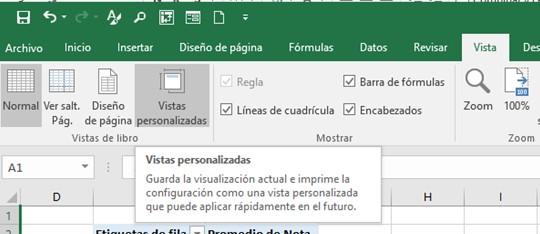 Crear vistas personalizadas en Excel | Aglaia