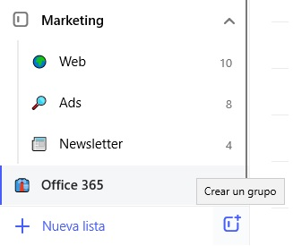 Microsoft To Do, agrupa tareas en listas y grupos
