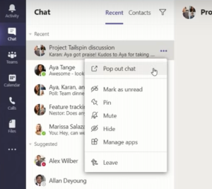 Multiventana Microsoft Teams
