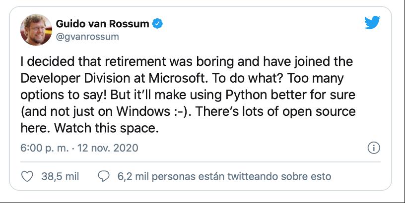 Twitter Guido van Rossum
