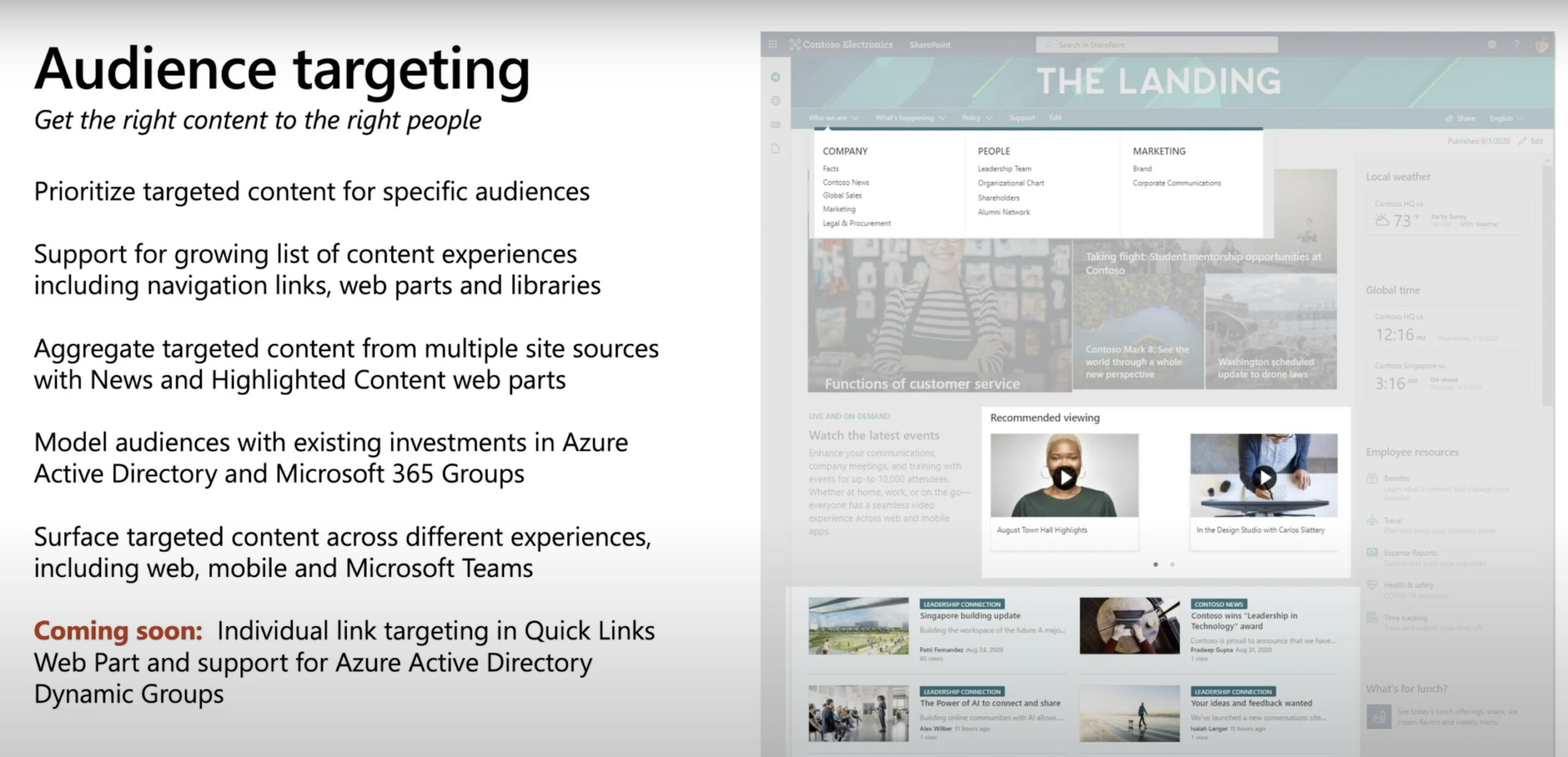 Novedades Sharepoint Audience Targeting