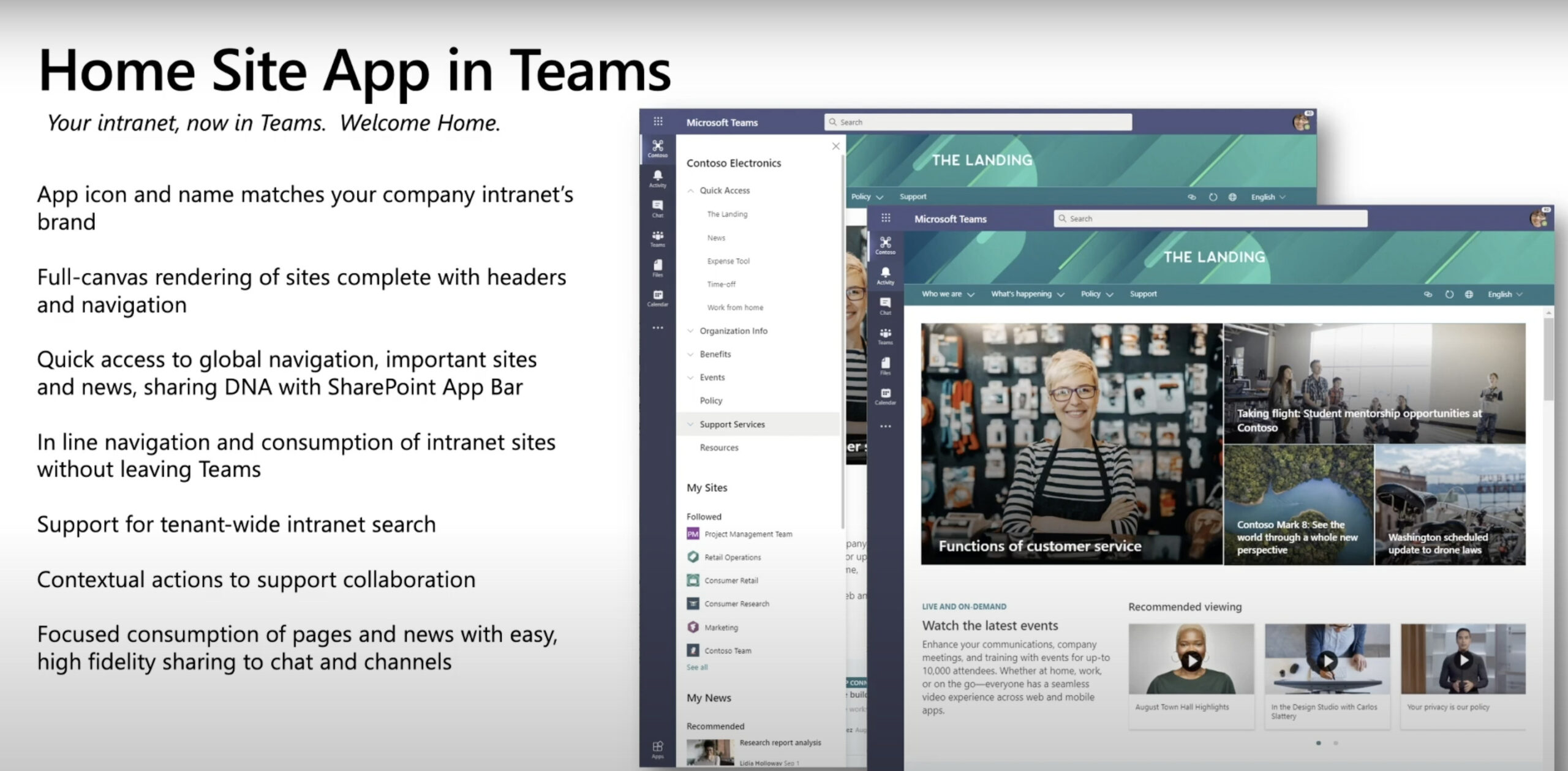 Novedades sharepoint Home Site App en Teams